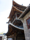 Un bâtiment traditionnel chinois Images libres de droits