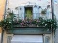 Un balcón muy bonito en italia Imagen de archivo