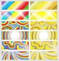 Un conjunto de banderas coloridas Imágenes de archivo libres de regalías