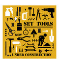 Un ensemble de silhouettes d'outils Photos stock