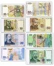 Un insieme di soldi bulgari Fotografia Stock