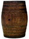 Un ritaglio di legno del barilotto ha isolato Immagine Stock Libera da Diritti