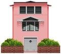 Una grande costruzione rosa Fotografie Stock Libere da Diritti