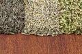 Una mezcla de hierbas secadas aromáticas Imagen de archivo libre de regalías