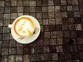 Una taza de té tailandés Imágenes de archivo libres de regalías
