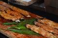 Unagi eel or kabayaki or grilled eel at restaurant on steert go to fushimi inari shrine in kyoto japan Stock Image