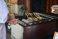 Unagi eel or kabayaki or grilled eel at restaurant on steert go to fushimi inari shrine in kyoto japan Stock Photo