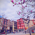 Unamuno square in bilbao plaza biscay basque country spain Royalty Free Stock Image