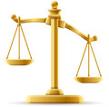Unbalanced justice scale concept with space for text Royalty Free Stock Photo