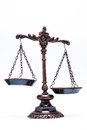 Unbalanced scale justice represent crime Royalty Free Stock Photography