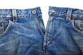 Unbuttoned blue jeans Royalty Free Stock Photos
