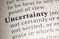 Uncertainty Royalty Free Stock Photo