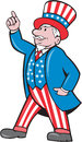 Uncle Sam American Pointing Up Cartoon Royalty Free Stock Photo