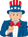 Uncle sam cartoon wants you illustration of Stock Image