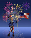 Uncle Sam Celebrates the Fourth of July Royalty Free Stock Images