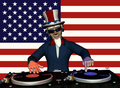 Uncle Sam DJ Stock Photography