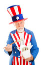 Uncle Sam Eats Dim Sum Royalty Free Stock Photo