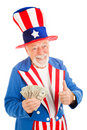 Uncle Sam - Economic Recovery Royalty Free Stock Photo