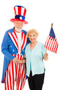 Uncle Sam and Friend Stock Photo