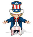 Uncle Sam Showing Royalty Free Stock Photos