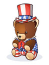 Uncle Sam Teddy Bear Royalty Free Stock Photos