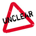 Unclear rubber stamp