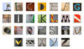 Uncommon abstract English alphabet Royalty Free Stock Photos