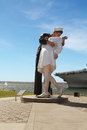 The unconditional surrender sculpture san diego ca usa april people view Royalty Free Stock Image