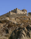 Unconquered Greek fortress. Lesvos. Greek islands. Stock Photo