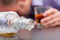 Uncontrolled consumption of alcohol Royalty Free Stock Photo