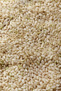 Uncooked brown rice top view Royalty Free Stock Images