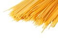 Uncooked italian spaghetti on a white background Royalty Free Stock Images