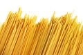 Uncooked italian spaghetti on a white background see my other works in portfolio Stock Images