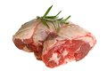 Uncooked lamb joint Royalty Free Stock Photo