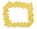 Uncooked pasta frame italian isolated on white background Royalty Free Stock Photos