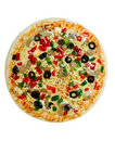 Uncooked Vegetarian pizza Royalty Free Stock Photo