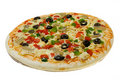 Uncooked Vegetarian pizza Royalty Free Stock Images