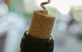 Uncork a bottle of red wine to Royalty Free Stock Image