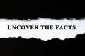 Uncover the facts concept Royalty Free Stock Photo