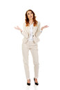 Undecided business woman. Royalty Free Stock Photo
