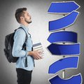 Undecided student Royalty Free Stock Photo