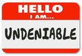 Undeniable essential person nametag sticker valuable worker empl hello i am words written on a name tag or telling others you are Royalty Free Stock Photo