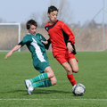 Under 15 soccer game Stock Photography