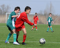 Under 15 soccer game Royalty Free Stock Photo