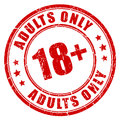 Under 18 adults only stamp Royalty Free Stock Photo