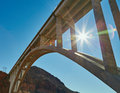 Under the bridge, California, USA Royalty Free Stock Photo