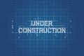 Under construction blueprint, technical drawing
