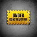 Under Construction Board Stock Photo
