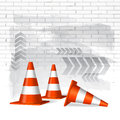 Under construction concept background file Royalty Free Stock Photo