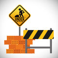 Under construction design concept with tools vector illustration Stock Photography
